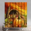 Funny Print Missing You Happy Thanksgiving In Heaven Bathroom Shower Curtains