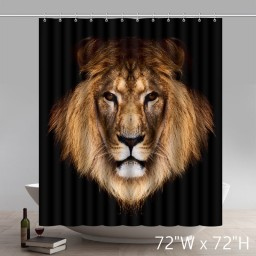 Symbol Lion Face Images Waterproof Kitchen Shower Curtains