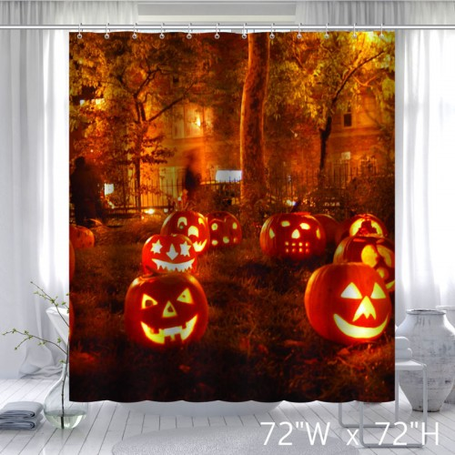 Happy Halloween Pumpkin Shower Curtain Best Gift for Halloweens Day