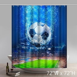 Symbol National Football League Waterproof Kitchen Shower Curtains
