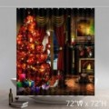 Funny Print Merry Christmas Eve Gift Waterproof Kitchen Bathroom Shower Curtains