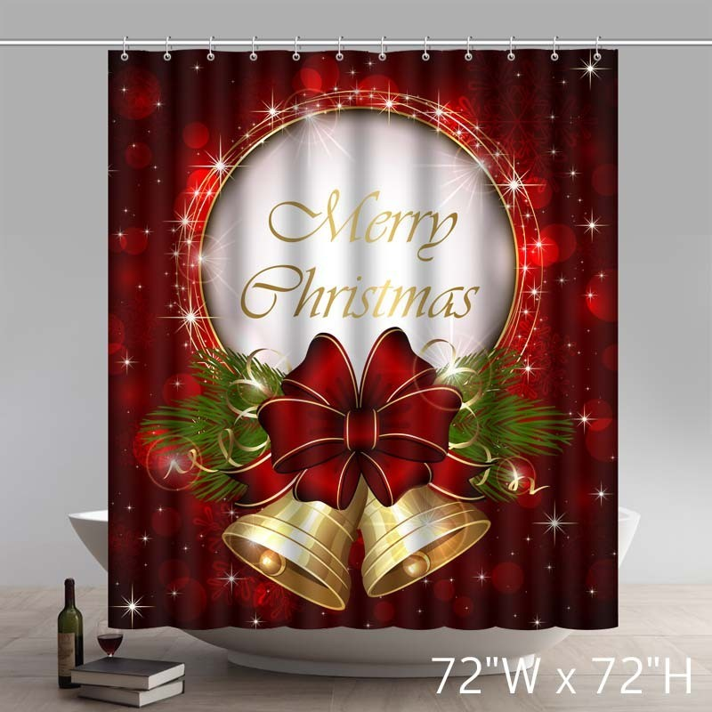 funny merry christmas greeting gift waterproof kitchen bathroom shower curtains - Funny Merry Christmas Greetings