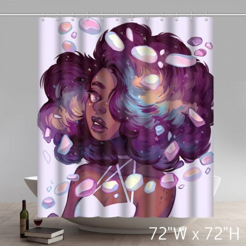 Personalized Liberty Art African American Black Women Painting Waterproof Shower Curtain