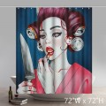 Liberty Art Daon Vren Harumi Hironaka Arte Manifiesto Bathing Shower Curtain