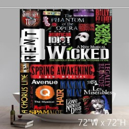 Symbol The Best Musicals of All Time Bathing Shower Curtains