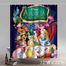 Movie Stars Alice in Wonderland Bathing Shower Curtains