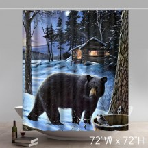 Symbol Buy Shirley Door Mats Custom Winter Bear Home Shower Curtains