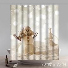 Marry Christmas And Happy New Year Shower Curtains Custom