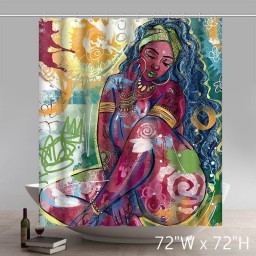 Liberty Art Dope Black African American Art Sexy Girl Shower Curtains Custom
