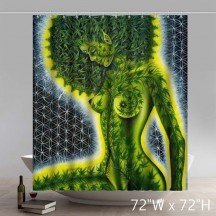 Liberty Art Weed Art Mary Jane Pot Ganja Green Smoke Shower Curtains Custom