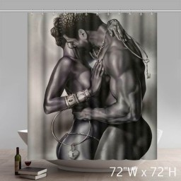 Liberty Art Lock and Key X-Change by Kevin Williams WAK Art Print Poster African American Black Art Print Shower Curtains