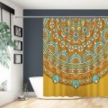 Shower Curtain Indian Bohemian Bath Curtains with Hooks Waterproof Anti Mould Polyester Fabric Bathroom Accessories