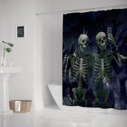 Vintage Happy Halloween My Dear Friend Home Decor Shower Curtains