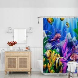 Diverse Sea Life Underwater World Shower Curtains