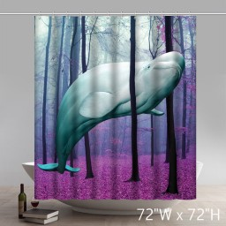 Custom 20000 Leagues Under the Trees Bathroom Shower Curtain