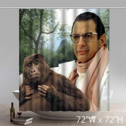 Movie Character Jeff Goldblum The Mad Monkey Custom Waterproof Shower Curtain