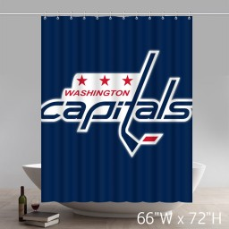 Symbol NHL Washington Capitals Custom Waterproof Fabric Bathroom Shower Curtain