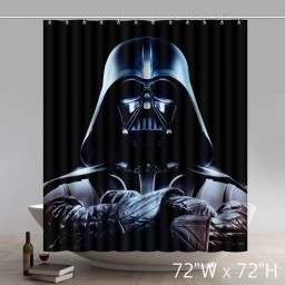 Movie Character Artsadd Custom Star Wars Darth Vader Waterproof Bathroom Fabric Shower Curtain