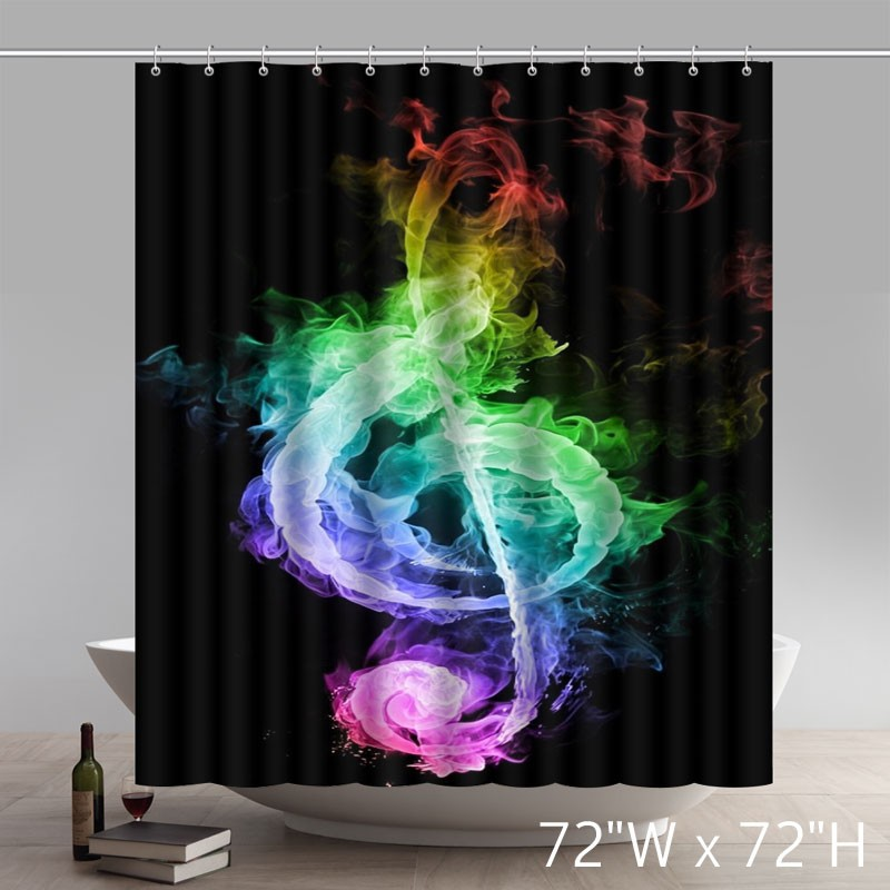 Liberty Art The Forward Colorful Fire Music Notes Custom Shower Curtain ...