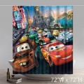 Custom Personalized Disneycartoon Cars Lightning McQueen Waterproof Fabric Shower Curtain
