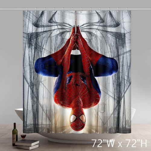 Movie Character the Amazing Spiderman Waterproof Bathroom Shower Curtain Polyester Fabric Shower Curtain