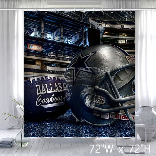 Custom GameDay Dallas Cowboys Unique Shower Curtain