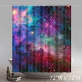 Personalized custom Liberty Art Rainbow Galaxy Space Shower Curtain