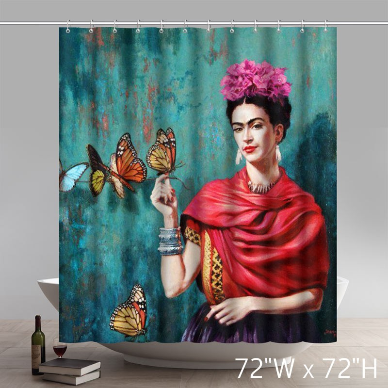 Liberty Art Space Cat Polyester Fabric Shower Curtain