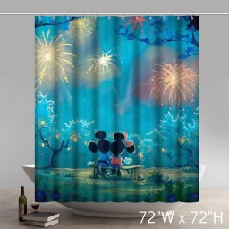 Personalize Disneycartoon Mickey Mouse Waterproof Bathroom Shower Curtain