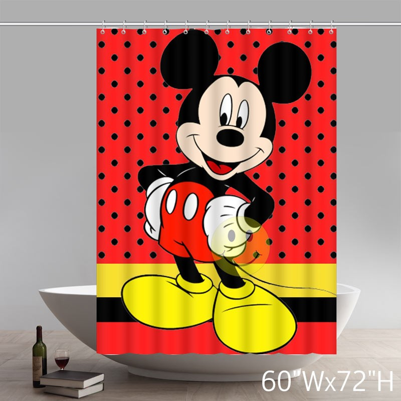 ... Custom Waterproof Polyester Fabric Disney Cartoon Mickey Mouse Art Shower  Curtain ...