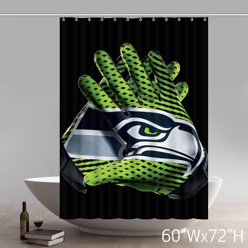 custom nfl seahawks vapor glove symbol shower curtain waterproof 100 polyester bath curtain