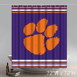 Symbol Clemson Tigers Custom Shower Curtains