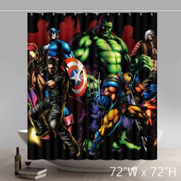 Custom Marvel Comic Movie Character Superhero the Avengers Waterproof Bathroom Shower Curtain
