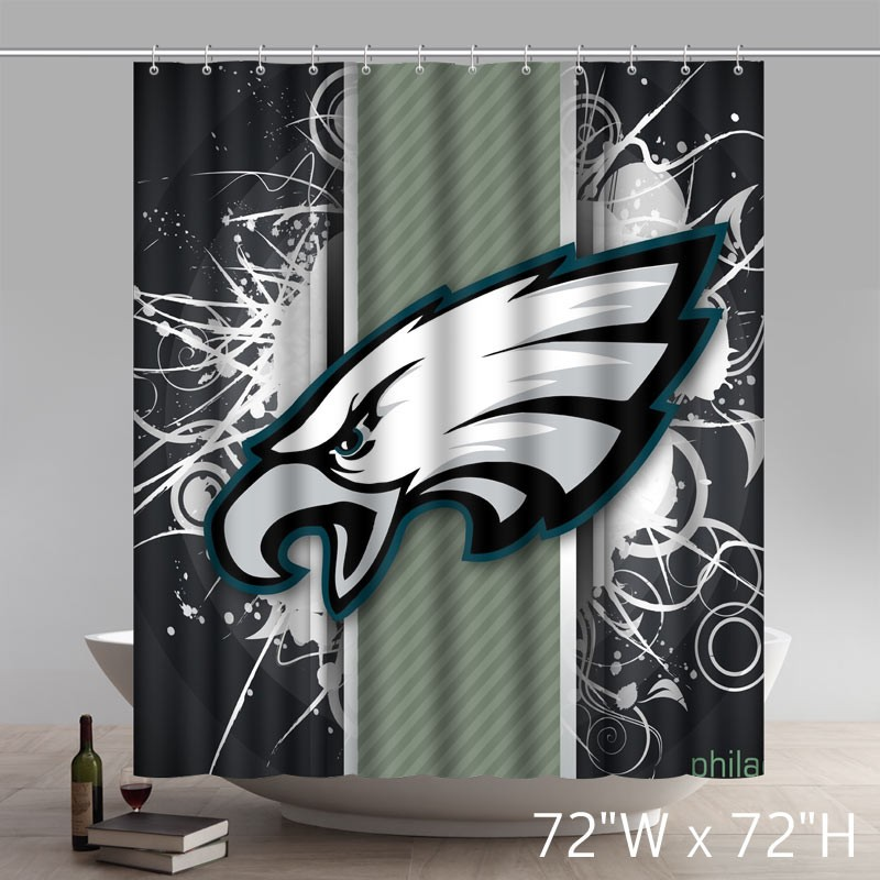 Symbol Philadelphia Eagles Waterproof Fabric Bathroom Shower