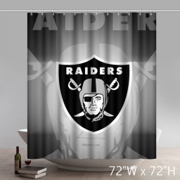 Symbol Custom Oakland Raiders Waterproof Fabric Bathroom Shower Curtains