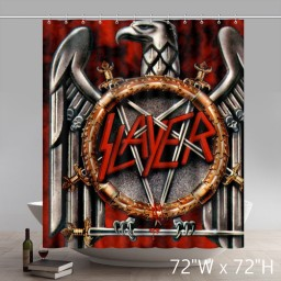 New Symbol Slayer Metal Band Waterproof Shower Curtains