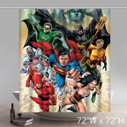 Movie Character The Revenger Super Hero Polyester Waterproof Shower Curtains