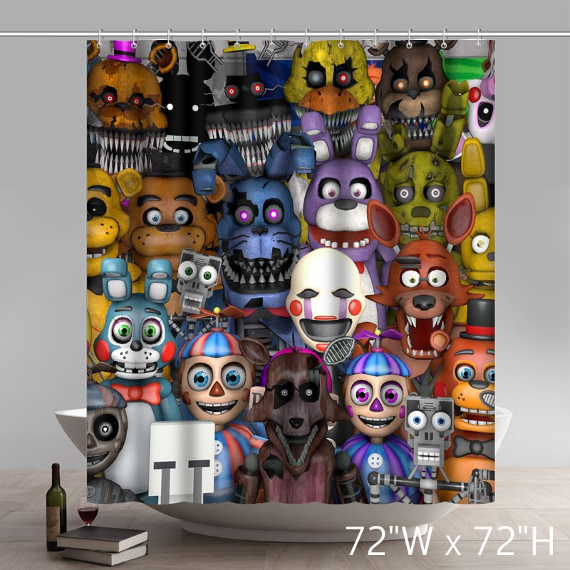 movie character fnaf animatronics home curtains cool pictures for