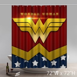 Symbol Wonder Woman Design Custom Waterproof Bathroom Shower Curtains
