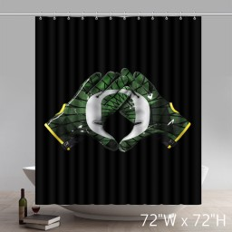 Custom Symbol Oregon Ducks High Quality Bathroom Shower Curtains
