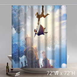 Movie Character Bioshock Infinite Custom Designed Decorative Waterproof Polyester Fabric Shower Curtain
