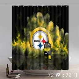 Symbol Cute Pittsburgh-Steelers Shower Curtains