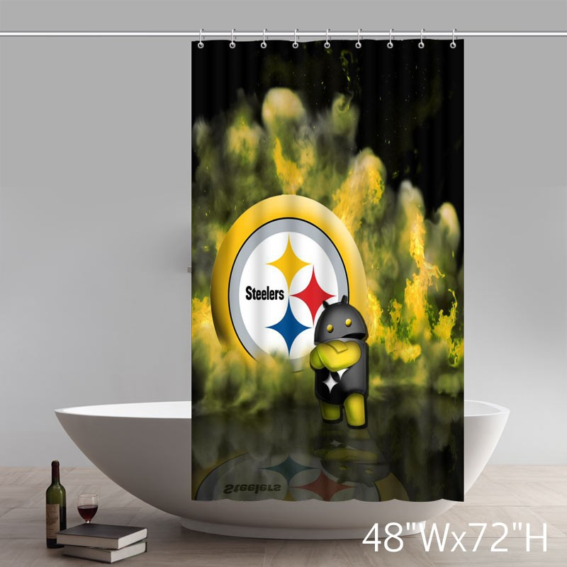 Symbol Cute Pittsburgh Steelers Shower Curtains