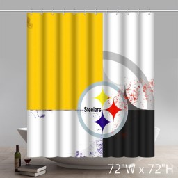 Symbol Pittsburgh-Steelers Waterproof Fabric Bathroom Shower Curtain