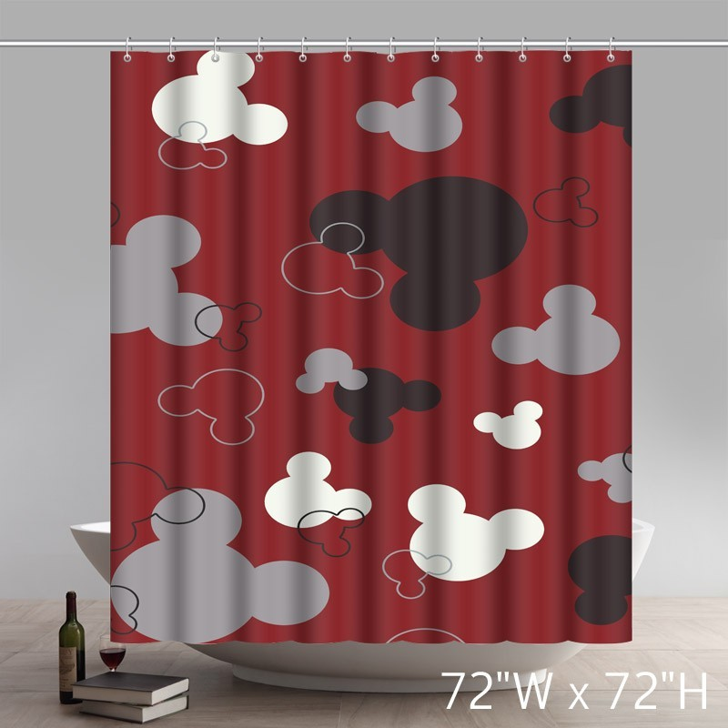 Liberty Art Flawless Gorgeous Creative Mickey Mouse Shower Retro Curtain Shower 100 WaterProof Polyester Fabric