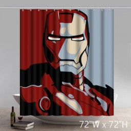 Cool Movie Character Super Hero The Avengers Iron Man Polyester Waterproof Shower Curtain