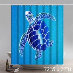 Funny New Fashion Bathroom Curtain Sea Turtle Waterproof Shower Curtains