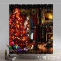 Unique Funny Print Christmas Evening Gifts Waterproof Bathroom Shower Curtains