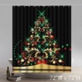 Unique Funny Print Christmas Gifts New Year Tree Waterproof Bathroom Shower Curtains