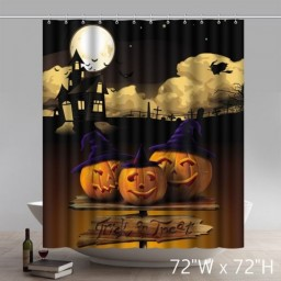 Custom Funny Print Halloween PowerPoint Bathroom Shower Curtains